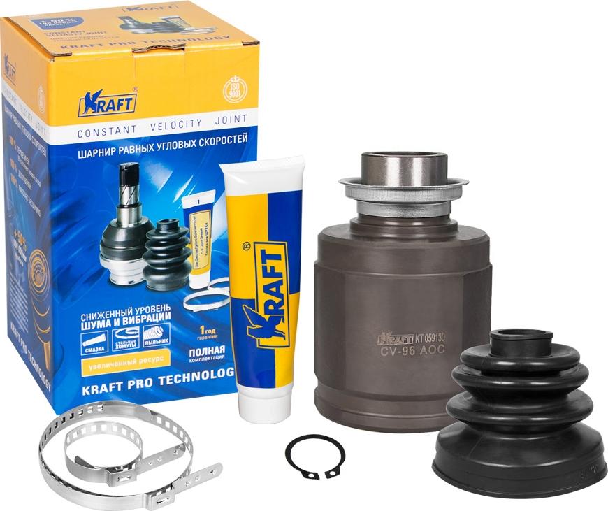 ШРУС внутренний Kraft, для Honda Accord 2.4 (01-), Civic 1.4-2.0 (95-05), Cr-V 2.0-2.4 (95-)/Acura Tsx 2.4 (10-) недорго, оригинальная цена