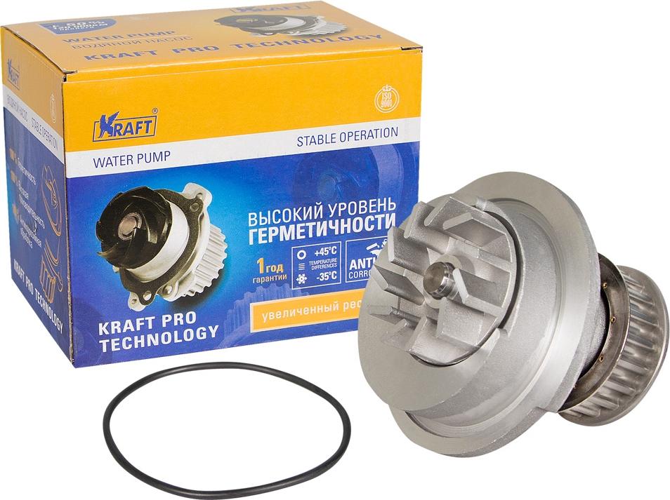 Водяной насос Kraft, для Daewoo Nexia SOHC/Chevrolet Lanos SOHC