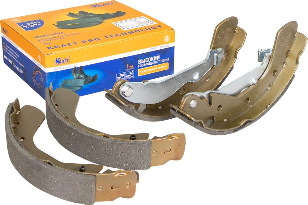 Колодки тормозные барабанные Kraft, для Chevrolet Aveo 05-