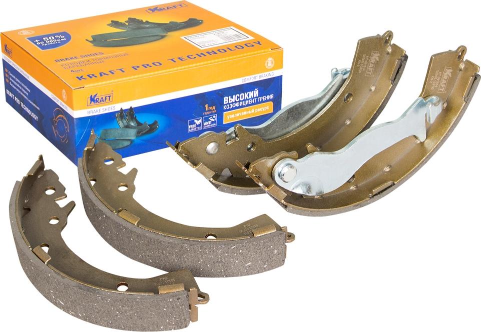 Колодки тормозные барабанные Kraft, для Hyundai Getz 1.1-1.6/1.5CRDi 02- -ABS барабанные колодки abs 206 09 13 9124