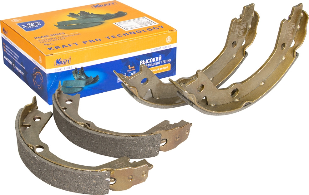 Колодки тормозные барабанные Kraft, для Hyundai Tucson, Kia Sportage 04- колодки тормозные барабанные kraft для ford focus i 98 04 focus ii 04