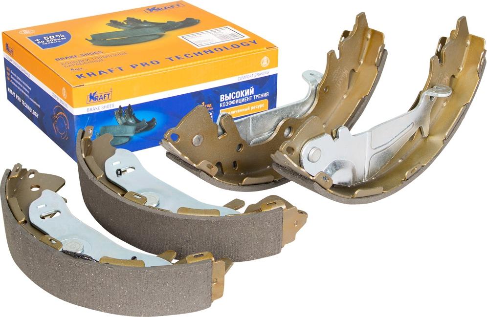 Колодки тормозные барабанные Kraft, для Hyundai H-1 2.5TDi - 2.5CRDi 02-