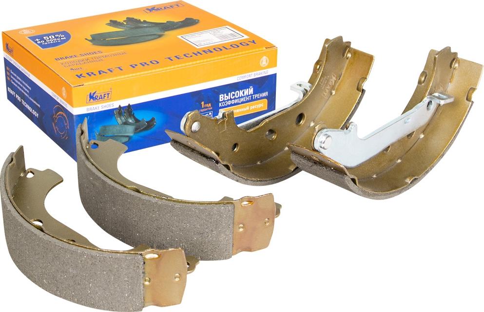 Колодки тормозные барабанные Kraft, для Ford Transit, Tourneo 1.8i, 1.8TDdi 02-, +ABS тормозные колодки abs focus tourneo transit grand tourneo connect kuga 12 19 37996