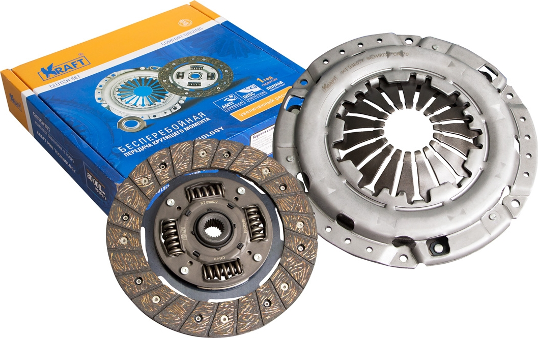 Комплект сцепления Kraft, без подшипника, для Daewoo Lacetti/Chevrolet Lacetti 1.4/1.6