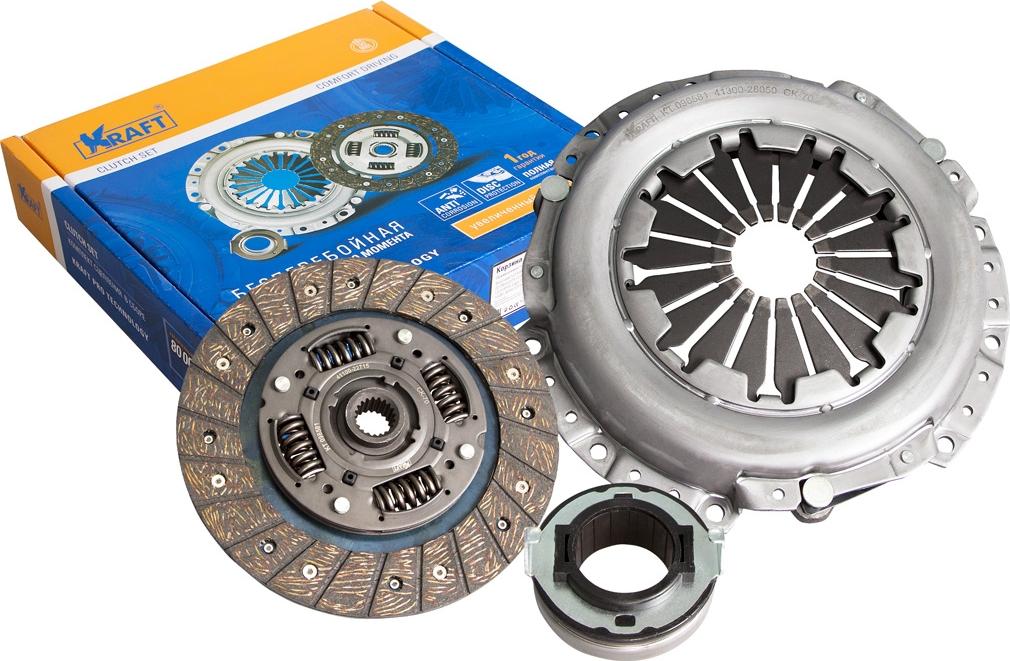 Комплект сцепления Kraft, в сборе, для Hyundai барабан сцепления в сборе с корпусом zc11 d 26mm тип 4 7з