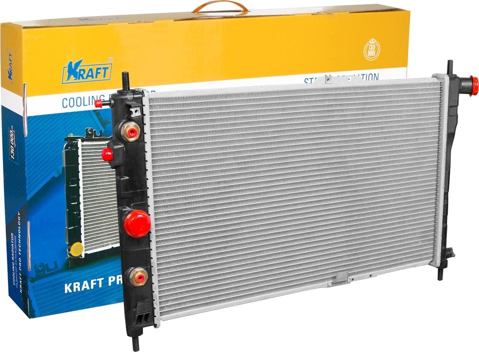 Радиатор охлаждения паяный Kraft, для Nexia AT дверь nexia