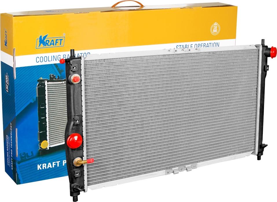 Радиатор охлаждения паяный Kraft, для Daewoo AT автомагнитола clarion для daewoo