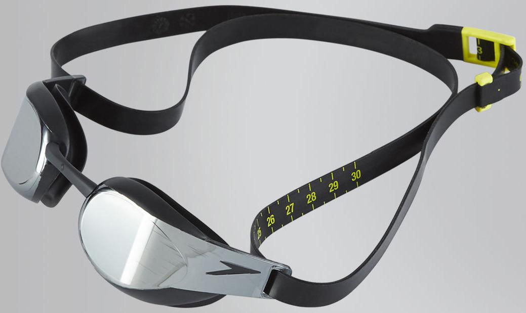 Очки для плавания Speedo Fastskin Elite Mirror, черный, серый, 8-082108137A цена