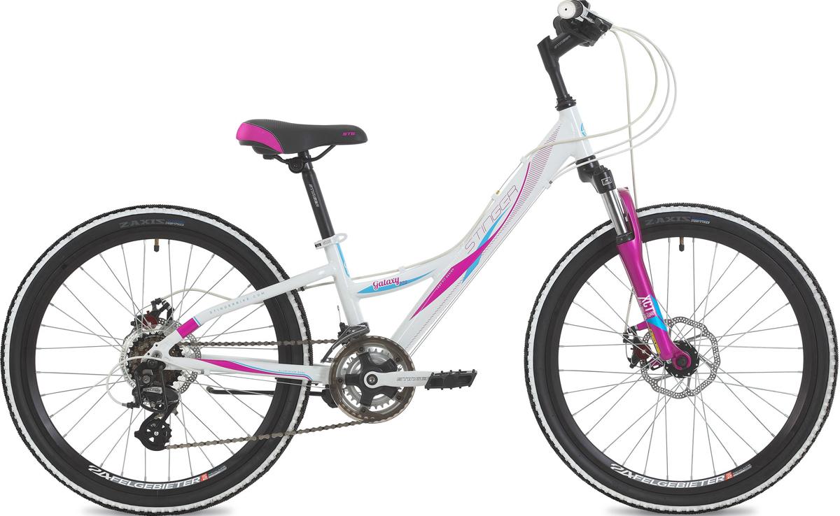 Велосипед Stinger Galaхy D 2.0, белый, 24, рама 11
