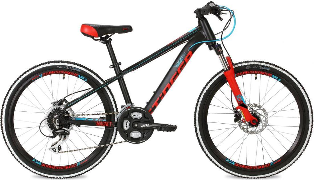 Велосипед Stinger Magnet Pro, черный, 24, рама 14
