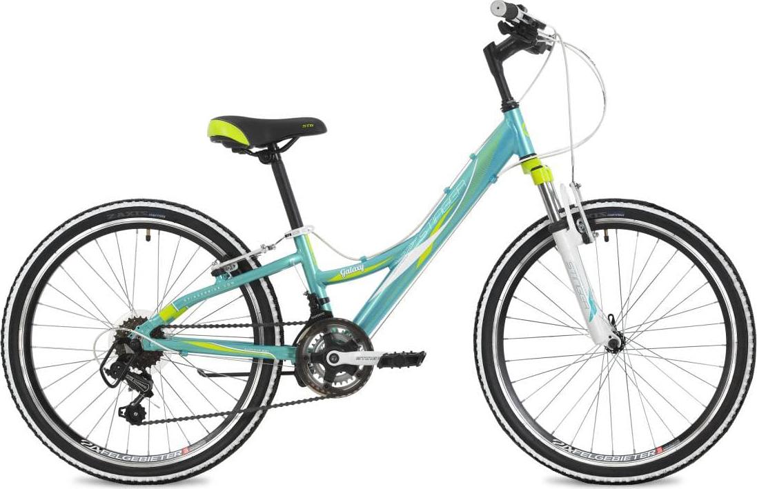Велосипед Stinger Galaхy, синий, 24, рама 11 вилка амортизационная suntour sf14 xcr32 lo гидравлическая для велосипедов 26 ход 100 120мм