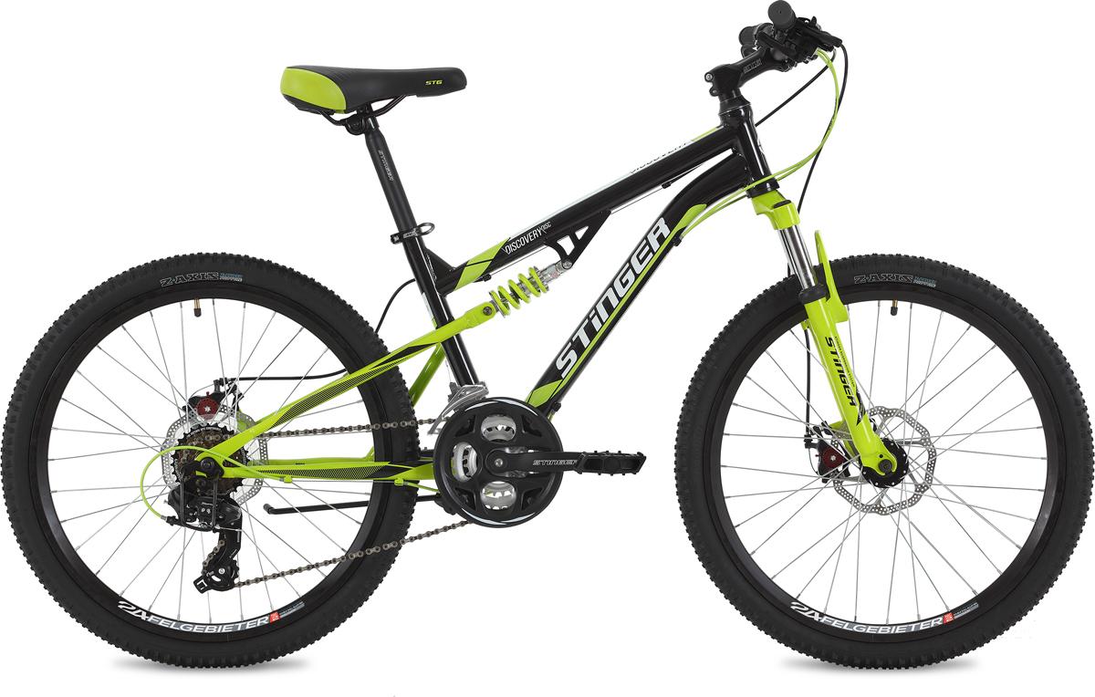 Велосипед Stinger Discovery D, черный, 24, рама 14
