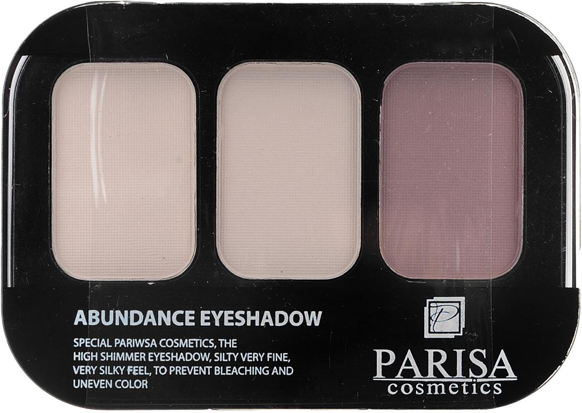 Тени для век Parisa Е-403 трехцветные, № 18 Матовый розово-сиреневый, 10 г bondibon розово сиреневый