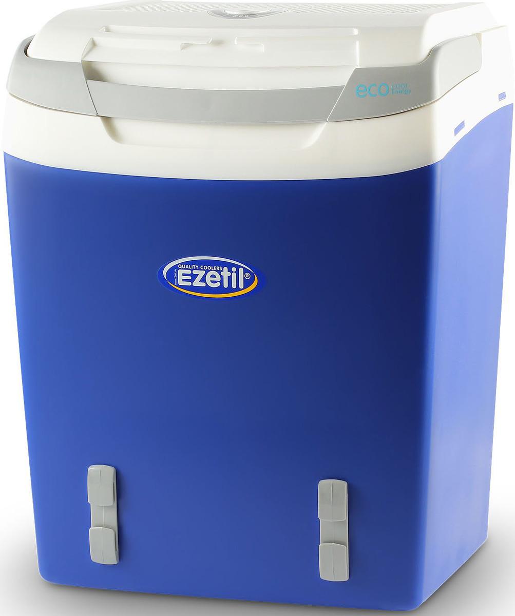 Термоэлектрический контейнер охлаждения Ezetil E32 М 12V, цвет: синий, 29 л термоэлектрический контейнер охлаждения ezetil e21 12v цвет красный серый 19 6 л