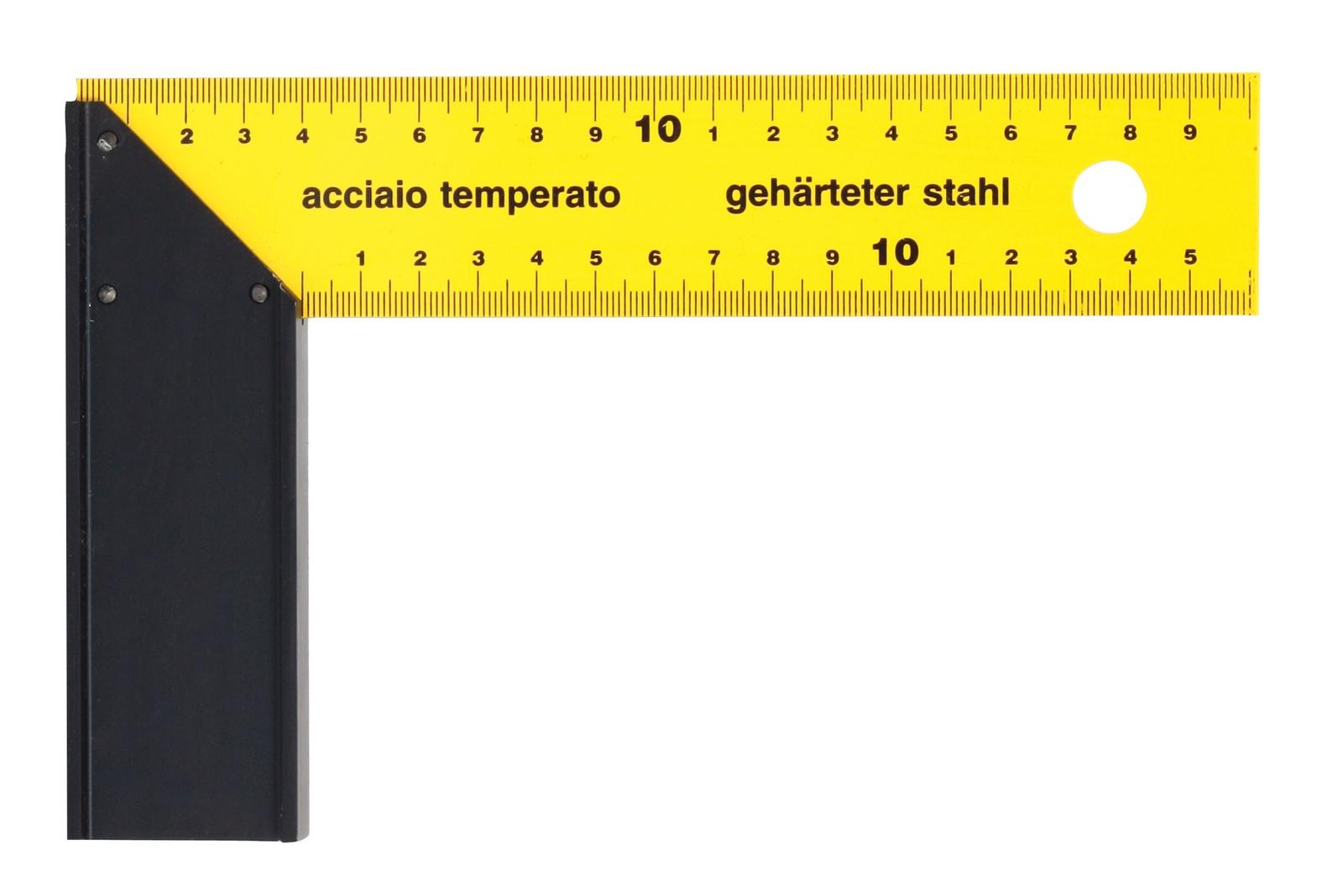 Линейка/угольник Libman Угольник столярный 400мм желтый 40303