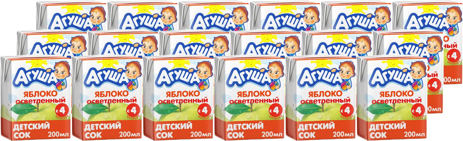 """Сок Агуша """"Яблоко"""", с 4 месяцев, 18 шт по 0,2 л. 90312330111_уп"""