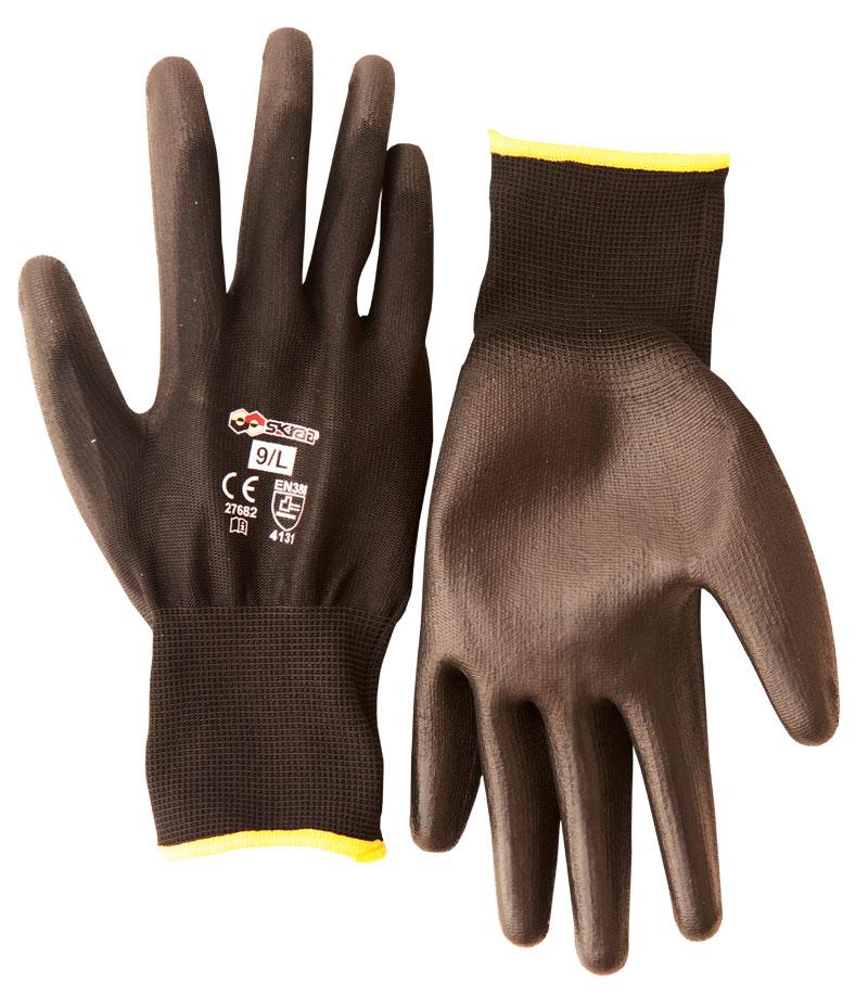 Перчатки защитные Libman Перчатки нейлон с полиуретан. покрытием 8/M BLACK 27681 кевларовые перчатки black force