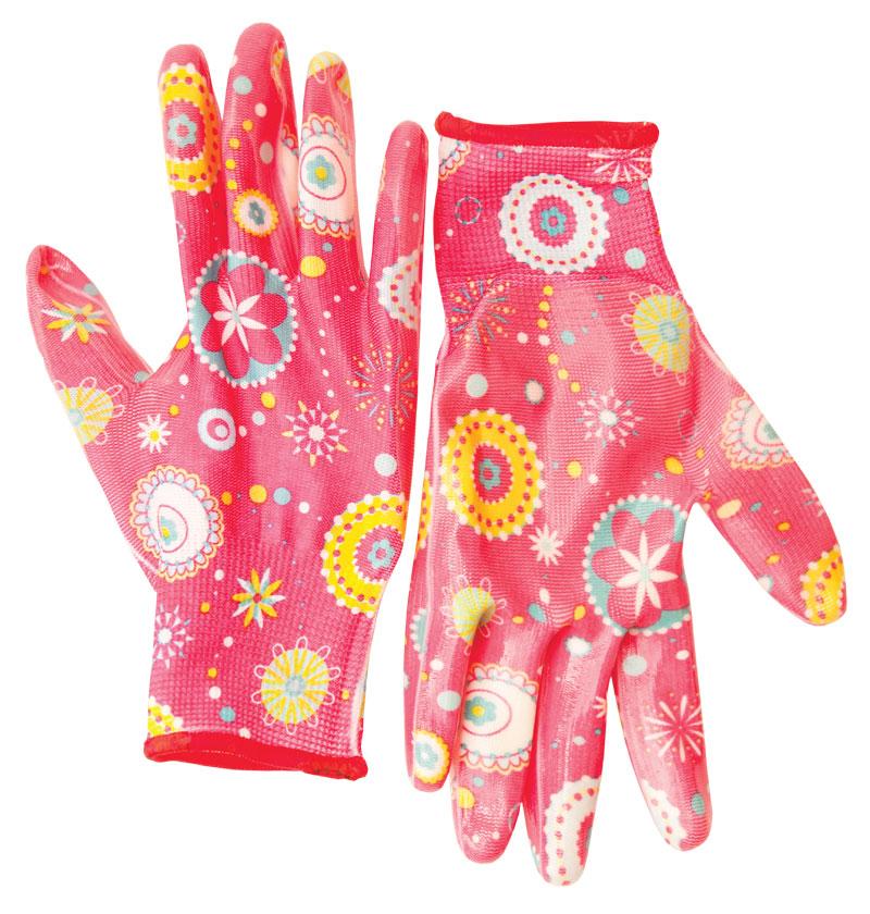 Перчатки защитные Libman полиэстер с нитрил. прозрач покрытием 8/M 27692