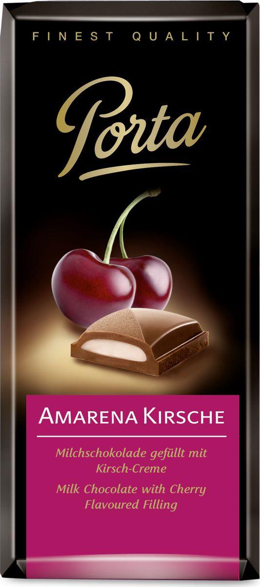 Шоколад Porta молочный, с вишневой начинкой, 100 г porta