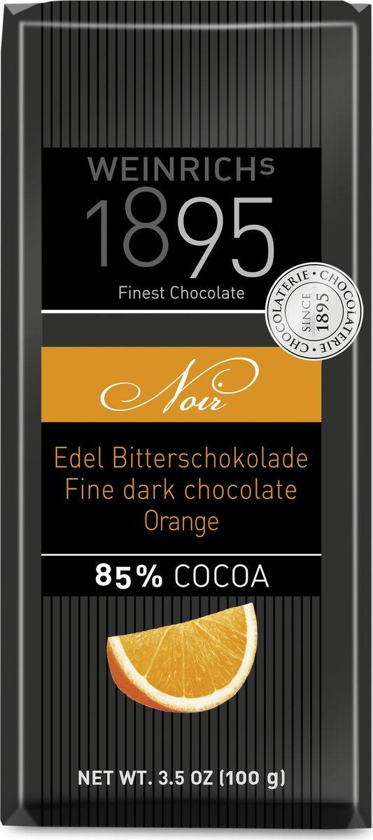 Шоколад Weinrich's 1895 горький, с апельсином, 100 г био шоколад auchan 85% горький 100 г