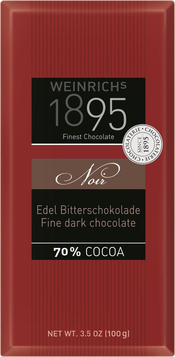 Шоколад Weinrich's 1895 горький, с 70% какао, 100 г