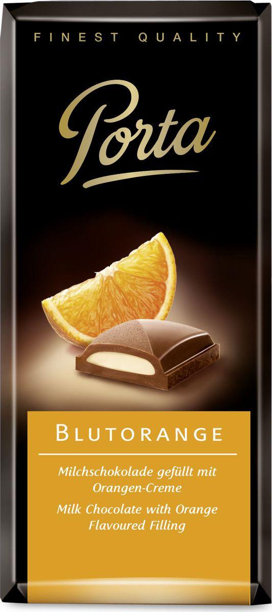 Шоколад Porta молочный, с апельсиновой начинкой, 100 г молочный шоколад trapa corazоn bar с апельсиновой начинкой 100 г