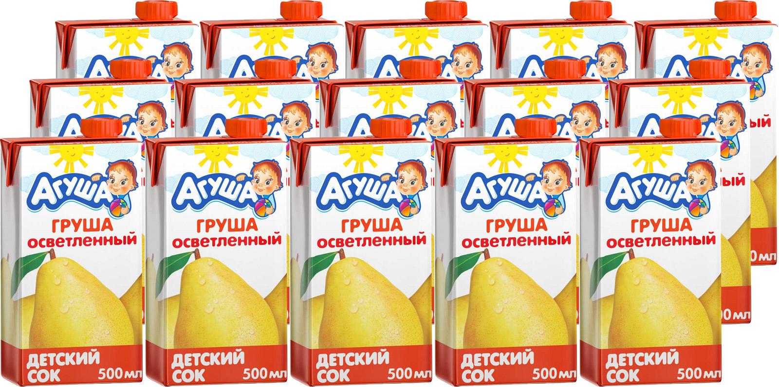 Сок Агуша Груша, с 3 лет, 15 шт по 0,5 л