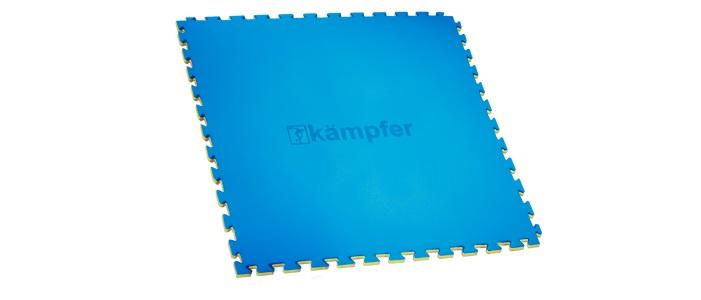 цена на Мат Kampfer татами ласточкин хвост blue, синий, желтый