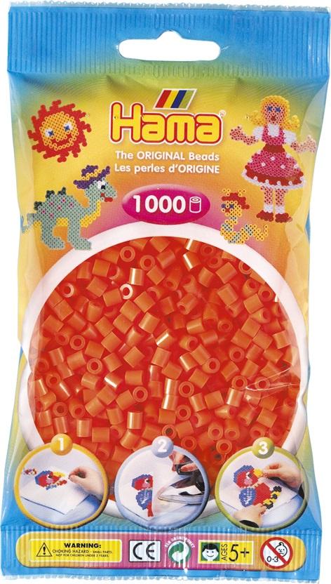 Мозаика Hama Бусинки для термомозаики MIDI оранжевого цвета. 1000 шт. 207-04 hama бусинки для термомозаики midi микс 207 67