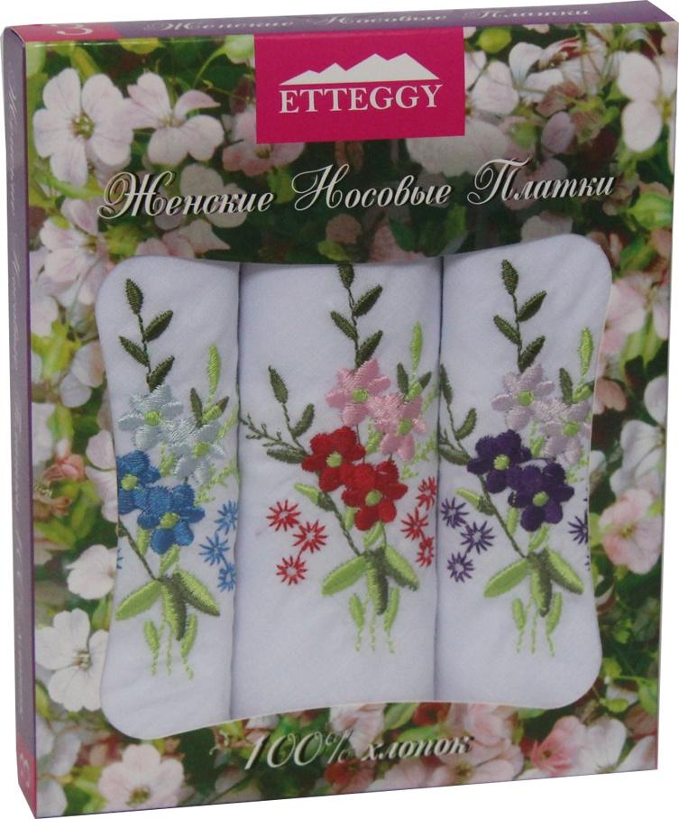 Носовой платок Etteggy ЭТ-PV61x3, фиолетовый, красный, синий, фиолетовый, красный, синий берет женский фабрика оренбургских пуховых платков цвет красный шп 034 19 размер универсальный