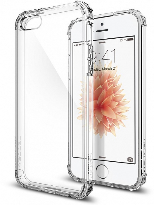цена на Чехол для сотового телефона SGP Crystal Shell (041CS20177) для iPhone 5/5S/SE, прозрачный