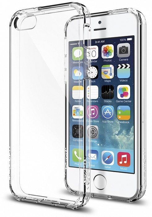 Чехол для сотового телефона SGP Ultra Hybrid (041CS20171) для iPhone 5/5S/SE, прозрачный чехол для apple iphone 6 6s sgp ultra hybrid metal slate