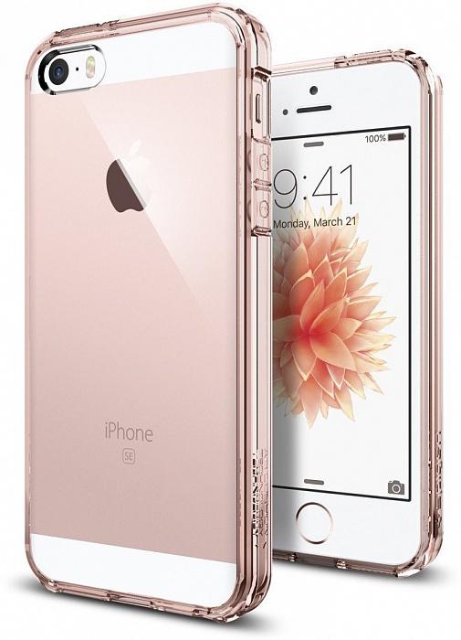 Чехол для сотового телефона SGP Ultra Hybrid (041CS20172) для iPhone 5/5S/SE, розовый чехол для apple iphone 6 6s sgp ultra hybrid metal slate