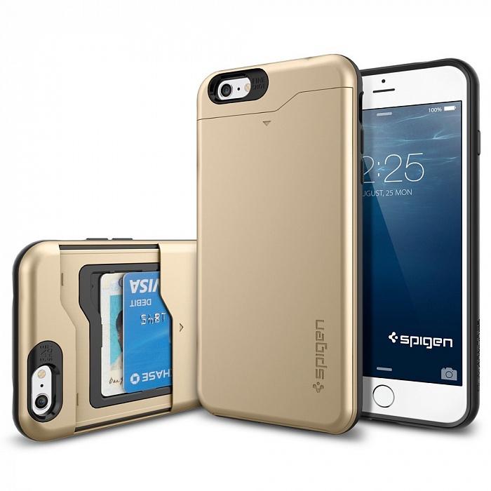 Чехол для сотового телефона SGP Slim Armor CS (SGP10913) для iPhone 6 Plus, золотой стоимость