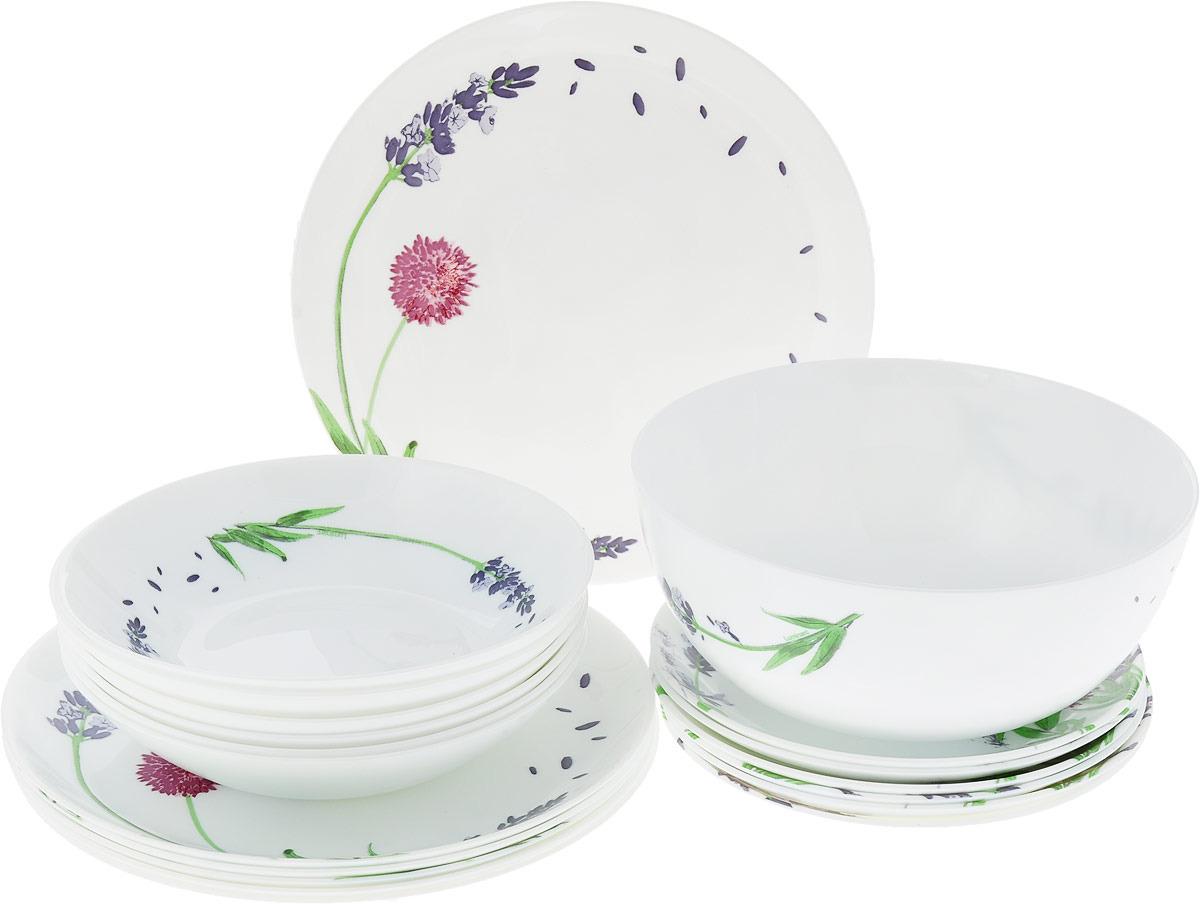 Набор столовой посуды Luminarc Лавандер, P2943, белый набор столовой посуды luminarc нью карин n2955 белый черный