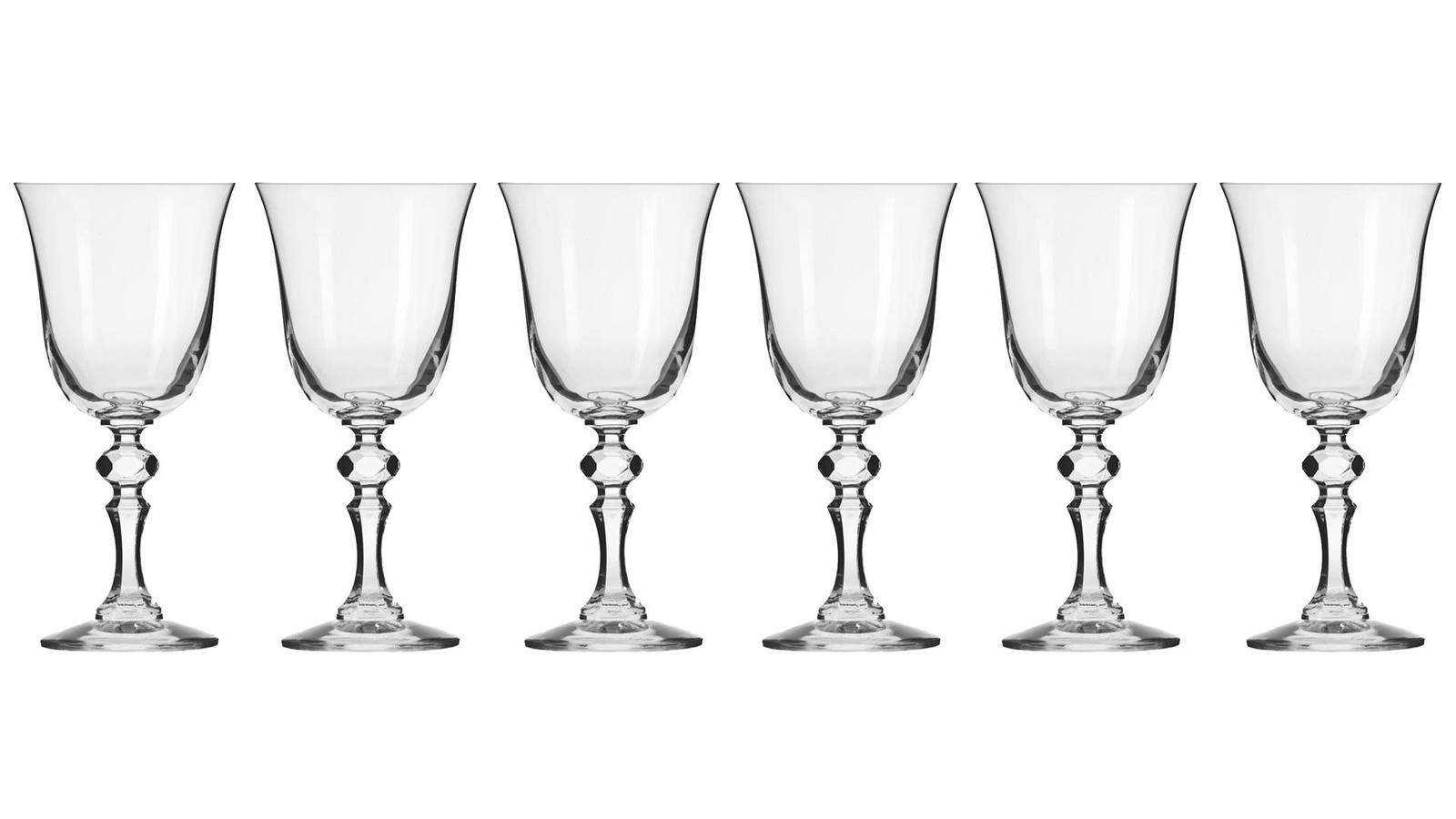 Набор бокалов Krosno KRO-F576030022086EJ0-6, СтеклоKRO-F576030022086EJ0-6Коллекция «Романтика» представляет собой широкую линейку питейных бокалов и предметов ручной работы, отличающуюся красивым дизайном и элегантной формой. Коллекция выполнена в классическом стиле. В ассортименте коллекции присутствуют: кувшины, графины, чаши, вазы и различные виды бокалов и стаканов, которые в совокупности создают изысканное и гармоничное целое. Каждый предмет из коллекции обладает интересным оптическим эффектом. Коллекция «Романтика» — это сочетание изысканности и классического стиля, она будет идеальна как для семейного ужина, так и для праздничной вечеринки. Предметы из коллекции созданы вручную, их можно мыть в посудомоечной машине.