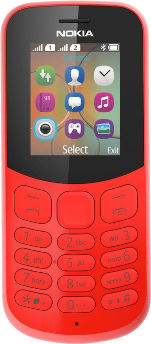 Мобильный телефон Nokia 130 Dual Sim, красный