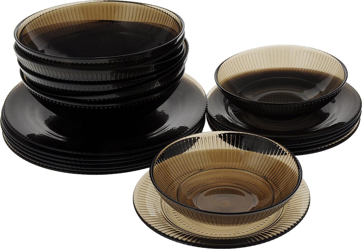 Набор столовой посуды Luminarc Луиз Эклипс, N8081, коричневый набор столовой посуды luminarc нью карин n2955 белый черный