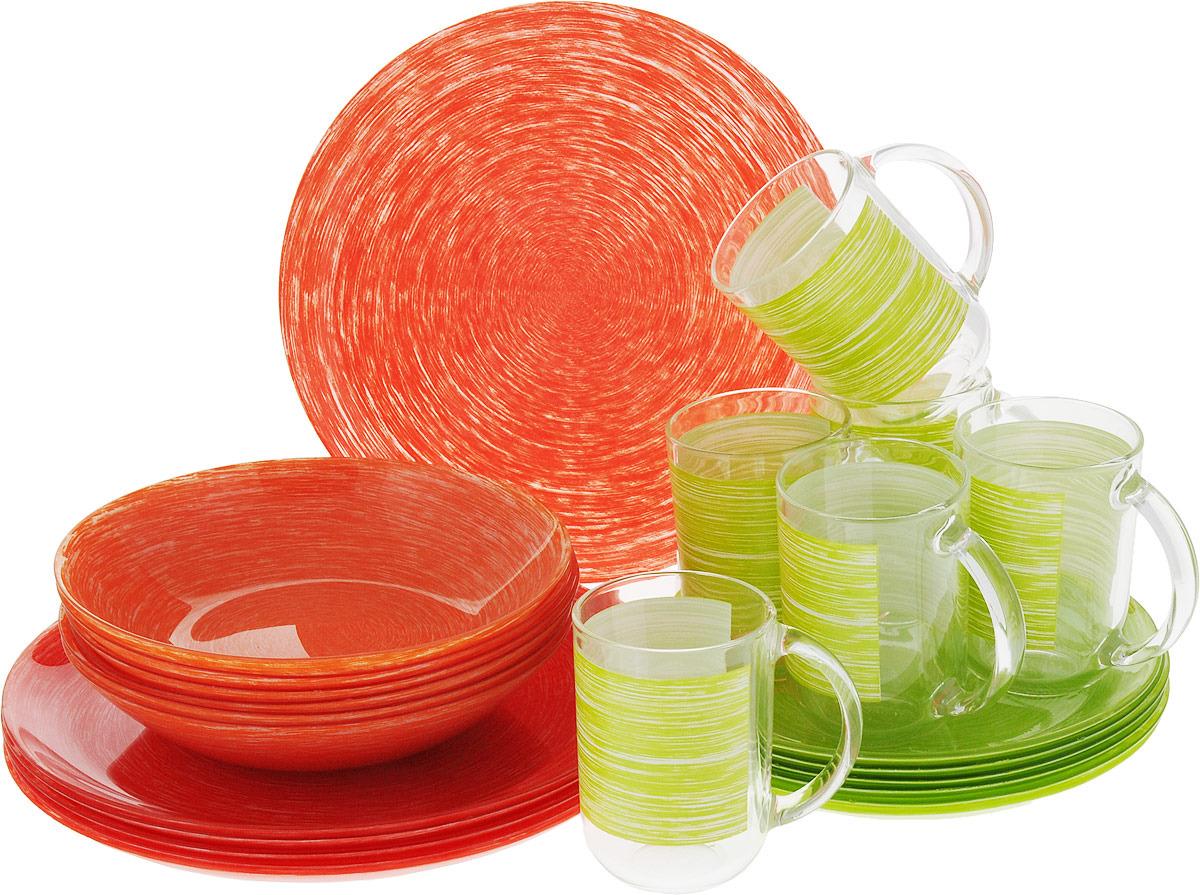 Набор столовой посуды Luminarc Брашмания Микс&Матч, P1403, разноцветный
