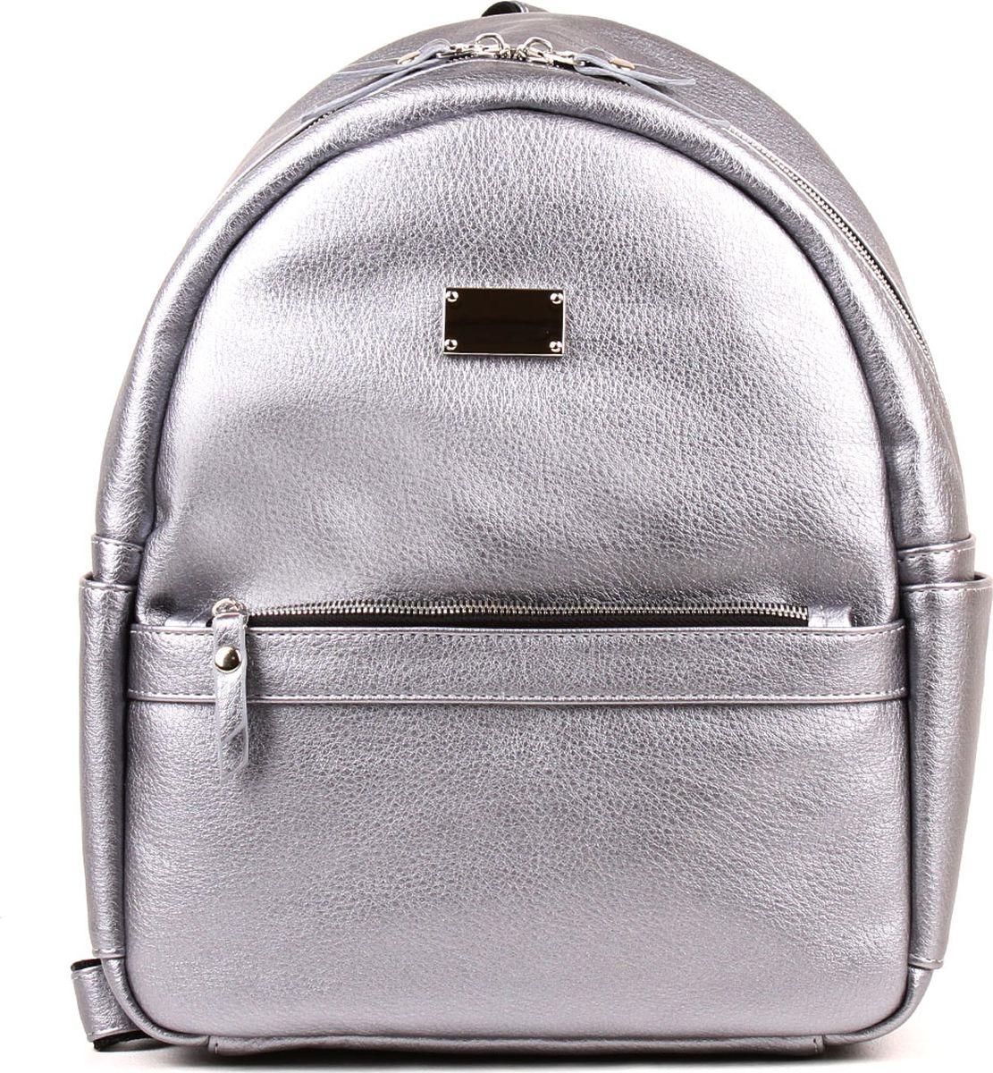 Рюкзак женский Медведково, 19с0436-к14, серебристый рюкзак женский медведково цвет бежевый 16с3880 к14