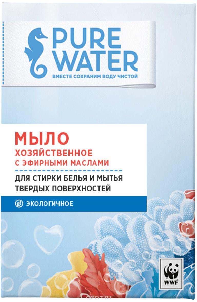 Мыло для стирки Pure water Хозяйственное с эфирными маслами, 175 г мыло с колд кремом авен