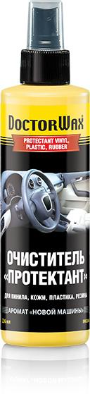 Очиститель салона Doctor Wax Протектант Новая машина, DW5244, для винила, кожи, пластика, резины, 200 мл автомобильный ароматизатор doctor wax новая машина dw0807 под сиденье