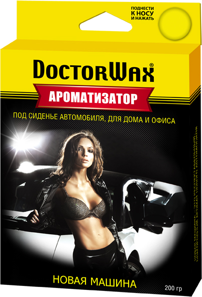 Автомобильный ароматизатор Doctor Wax Новая машина, DW0807, под сиденье ароматизатор автомобильный fkvjp deo fresh новая машина спрей 50 мл