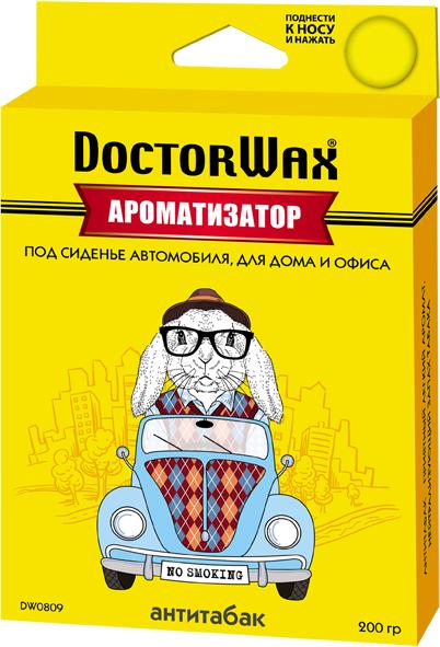 Автомобильный ароматизатор Doctor Wax Антитабак, DW0809, под сиденье ароматизатор воздуха f 15 лакомый нектар под сиденье двойной концентрации 200 мл fouette