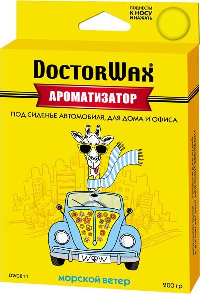 Автомобильный ароматизатор Doctor Wax Морской ветер, DW0811, под сиденье автомобильный ароматизатор doctor wax новая машина dw0807 под сиденье