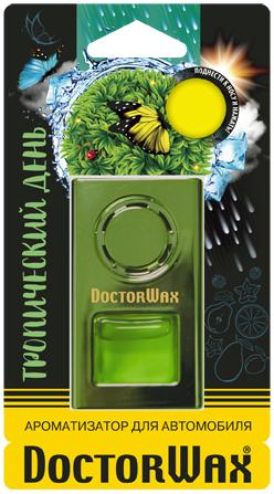 Автомобильный ароматизатор Doctor Wax Тропический день, DW0818, на дефлектор обдува ароматизатор автомобильный fouette капучино на дефлектор