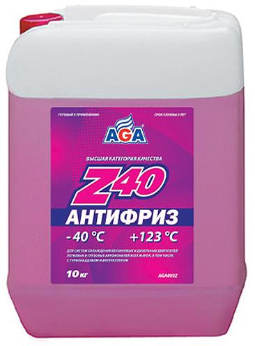 Антифриз AGA, AGA003Z, красный, -40C, 10 л
