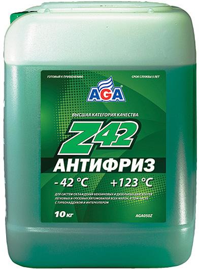 Антифриз AGA, AGA050Z, зеленый, -42C, 10 л