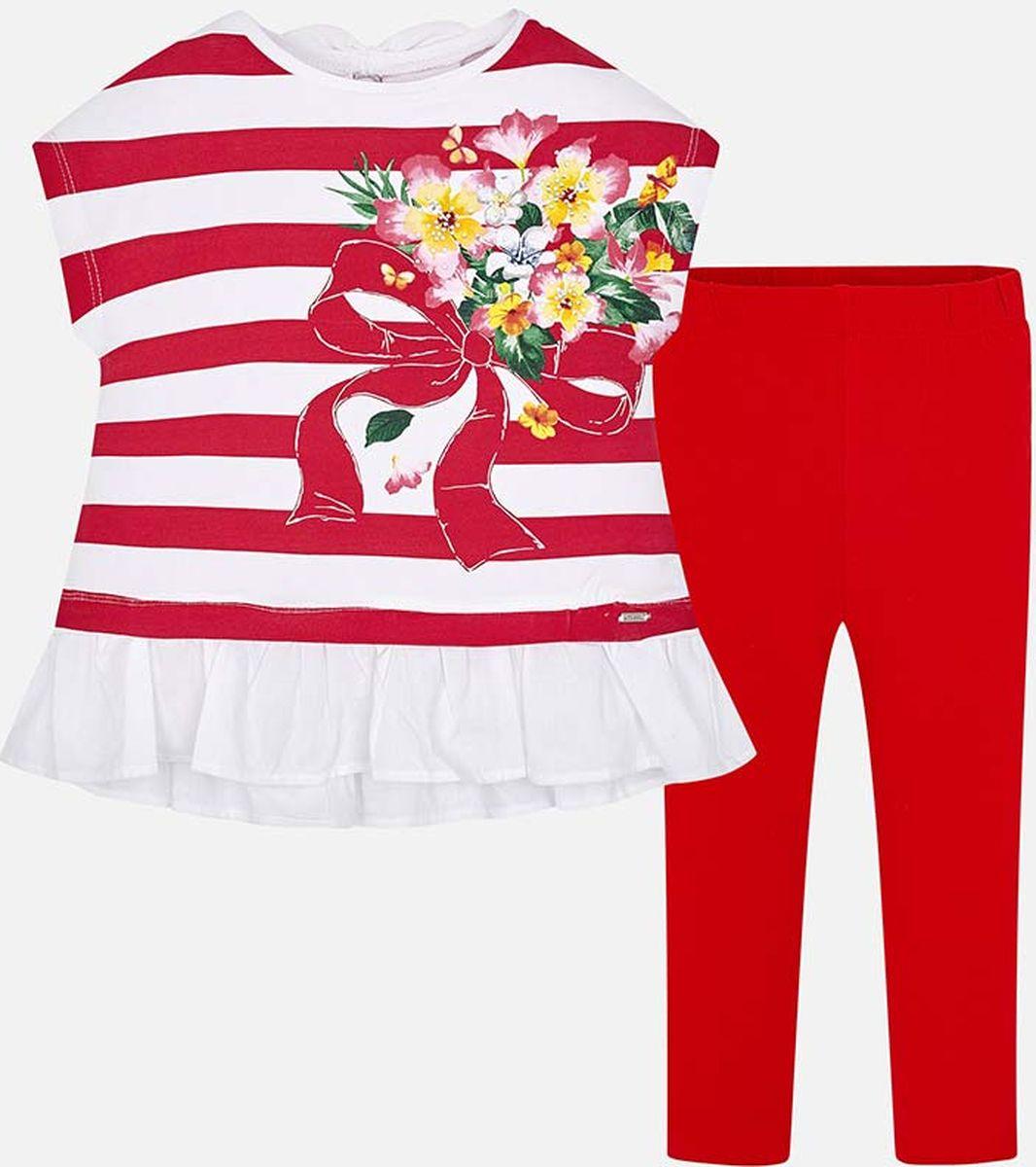 Пуловер для девочки Mayoral, цвет: красный. 3704-24-6J. Размер 128, 8 лет3704-24-6J