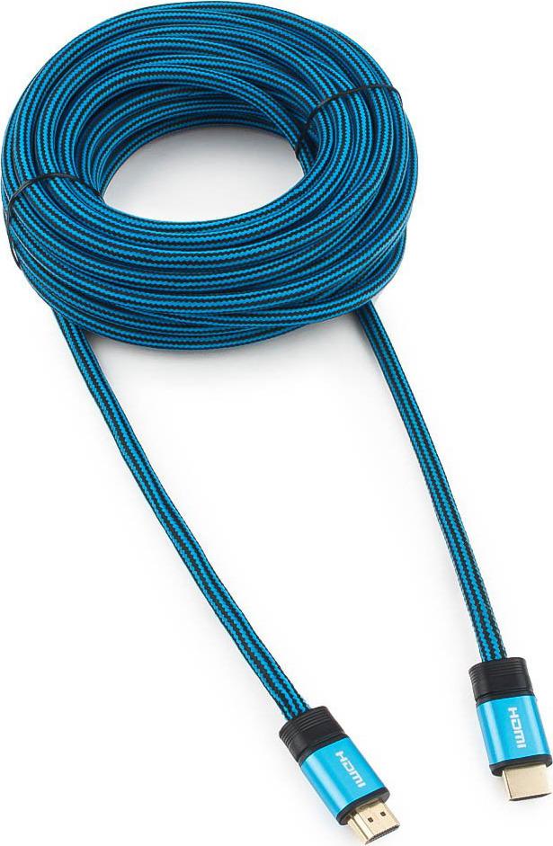 Кабель Cablexpert Gold HDMI, 10 м, CC-G-HDMI01-10M, синий кабель hdmi 10м cablexpert cc g hdmi01 круглый синий